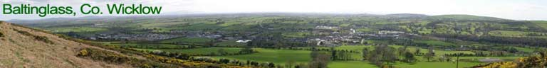 Baltinglass as seen from the cross on the hill